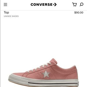 Converse Custom One Star Suede Low Top Pink